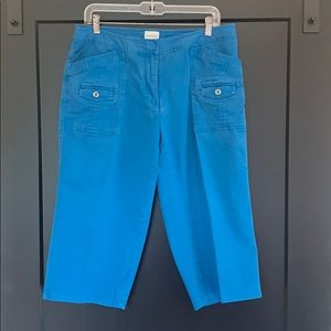 Chico's Blue Capri Pant Chico's Sz 2